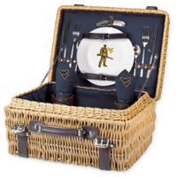 West Virginia University Champion Picnic Basket with Service for 2 in Navy