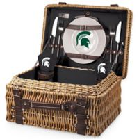 Michigan State University Champion Picnic Basket with Service for 2 in Black