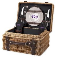 Texas Christian University Champion Picnic Basket with Service for 2 in Black