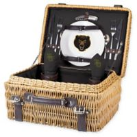 Baylor University Champion Picnic Basket with Service for 2 in Black