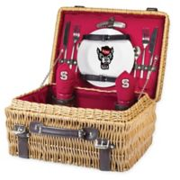 North Carolina State University Champion Picnic Basket with Service for 2 in Red