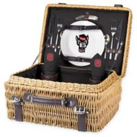 North Carolina State University Champion Picnic Basket with Service for 2 in Black