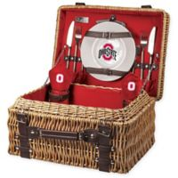 Ohio State University Champion Picnic Basket with Service for 2 in Red