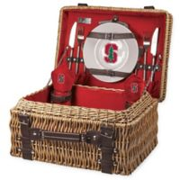 Stanford University Champion Picnic Basket with Service for 2 in Red