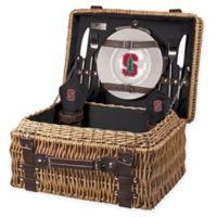Stanford University Champion Picnic Basket with Service for 2 in Black