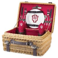 Indiana University Champion Picnic Basket with Service for 2 in Red