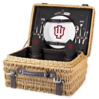Indiana University Champion Picnic Basket with Service for 2 in Black