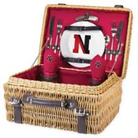 Northeastern University Champion Picnic Basket with Service for 2 in Red