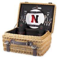 Northeastern University Champion Picnic Basket with Service for 2 in Black