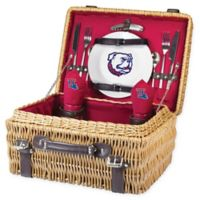 Louisiana Tech University Champion Picnic Basket with Service for 2 in Red