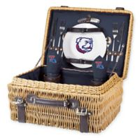 Louisiana Tech University Champion Picnic Basket with Service for 2 in Navy