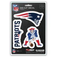 NFL New England Patriots 3-Piece Car Emblem Kit