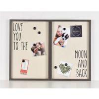 Love You To The Moon 25-Inch x 16-Inch Magnetic Collage Frame