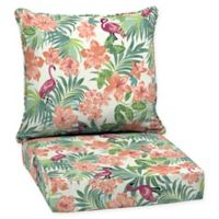 Arden Selections™ Luau Flamingo Outdoor Tropical Deep Seat Set in Cream