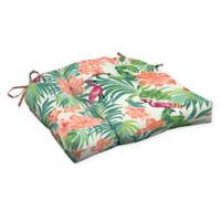 Arden Selections™ Luau Flamingo Outdoor Wicker Seat Cushions in Cream (Set of 2)