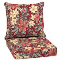Arden Selections™ Clarissa Tropical 2-Piece Outdoor Deep Seat Cushions in Red
