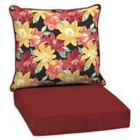 Arden Selections™ Ruby Abella Floral Outdoor Deep Seat Chair Cushion in Black
