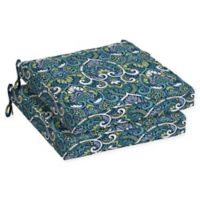 Arden Selections™ Aurora Damask 2-Piece Outdoor Seat Cushion Set in Sapphire