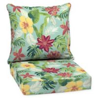 Arden Selections™ Outdoor Elea Tropical 2-Piece Deep Seat Cushion Set in Blue