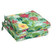 Arden Selections™ Outdoor Elea Tropical Seat Cushion in Blue (Set of 2)