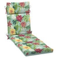 Arden Selections™ Outdoor Elea Tropical Chaise Cushion in Blue