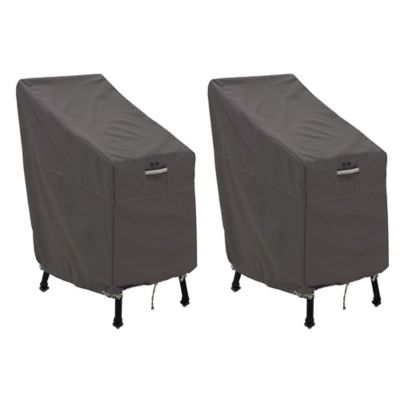 Classic Accessories® Ravenna® 2 Pack Patio Bar Chair U0026 Stool Covers In Dark