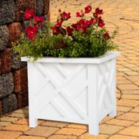 Pure Garden Box Plant Holder in White