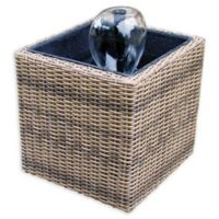 KoolScapes Wicker Urban Fountain Set in Brown