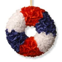 National Tree Company 18-Inch Patriotic Rose Wreath in Red/White/Blue