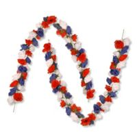 National Tree Company 2-Pack 6-Foot Patriotic Rose Garland in Red/White/Blue