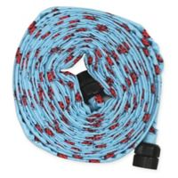 HydroHose Ladybug 50-Foot Flat Hose in Blue with Adjustable Nozzle