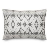 Designs Direct Shibori Oblong Outdoor Throw Pillow in Grey