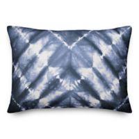Designs Direct Shibori Oblong Outdoor Throw Pillow in Blue
