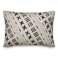 Designs Direct Tribal Oblong Outdoor Throw Pillow in Beige/Black