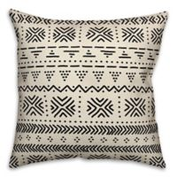 Designs Direct Tribal Square Outdoor Throw Pillow in Beige/Black
