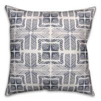 Designs Direct Shibori Square Outdoor Throw Pillow in Slate