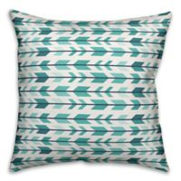 Designs Direct Tribal Arrow Indoor/Outdoor Square Throw Pillow in Blue/White