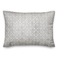 Designs Direct Faded Indoor/Outdoor Oblong Throw Pillow in Grey