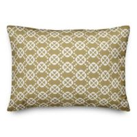 Designs Direct Floral Indoor/Outdoor Oblong Throw Pillow in Yellow