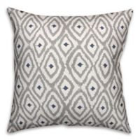 Designs Direct Southwest Indoor/Outdoor Square Throw Pillow in Grey