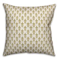Designs Direct Leaf Indoor/Outdoor Square Throw Pillow in Gold