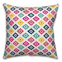 Designs Direct Multicolor Ikat Indoor/Outdoor Square Throw Pillow