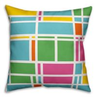 Designs Direct Summer Geometric Indoor/Outdoor Square Throw Pillow