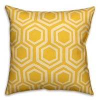 Designs Direct Lemon Geometric Indoor/Outdoor Square Throw Pillow in Yellow