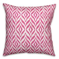 Designs Direct Summer Ikat Indoor/Outdoor Square Throw Pillow
