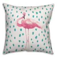 Designs Direct Tropical Flamingo Indoor/Outdoor Square Throw Pillow in Pink