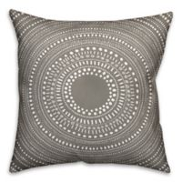 Designs Direct Tribal Circle Indoor/Outdoor Square Throw Pillow in Taupe