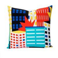 """Learning Linens """"Be Super"""" European Pillow Sham in Black/Blue"""