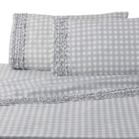 Cammy Gingham Full Sheet Set in Grey