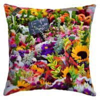 Selections by Arden Flower Market Square Outdoor Throw Pillow